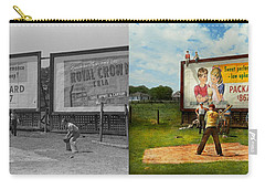 Sport - Baseball - America's Past Time 1943 - Side By Side Carry-all Pouch by Mike Savad