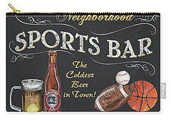 Sports Bar Carry-all Pouch by Debbie DeWitt