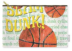 Sports Fan Basketball Carry-all Pouch by Debbie DeWitt
