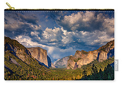Spring Storm Over Yosemite Carry-all Pouch by Rick Berk
