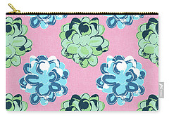Spring Succulents- Art By Linda Woods Carry-all Pouch by Linda Woods