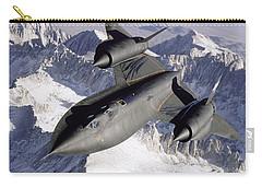 Sr-71b Blackbird In Flight Carry-all Pouch by Stocktrek Images