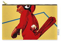 St. Louis Cardinals Vintage 1956 Program Carry-all Pouch by Big 88 Artworks