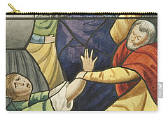 Stained Glass In St Mark's  The Taking Of Christ  Carry-all Pouch by Joseph Manning