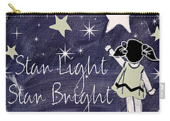 Star Light Star Bright Chalk Board Nursery Rhyme Carry-all Pouch by Mindy Sommers