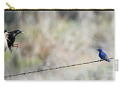 Starling Attack Carry-all Pouch by Mike Dawson