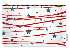 Stars And Stripes Carry-all Pouch by Marianna Mills