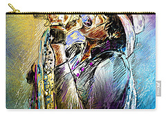 Steven Tyler 01  Aerosmith Carry-all Pouch by Miki De Goodaboom