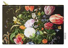 Still Life Of Flowers Carry-all Pouch by Jan Davidsz de Heem