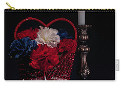 Still Life With Lovebirds Carry-all Pouch by Tom Mc Nemar