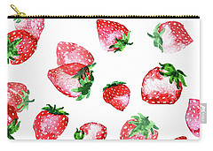Strawberries Carry-all Pouch by Varpu Kronholm