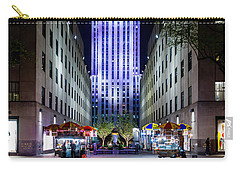 Carry-all Pouch featuring the photograph Rockefeller Center by M G Whittingham