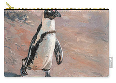 Stroll Along The Beach Carry-all Pouch by David Stribbling