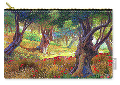 Tranquil Grove Of Poppies And Olive Trees Carry-all Pouch by Jane Small
