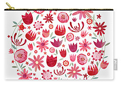 Summer Flower Circle Carry-all Pouch by Nic Squirrell