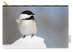 Summit - Black-capped Chickadee Carry-all Pouch by Christina Rollo