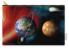 Sun And Planets Carry-all Pouch by Panoramic Images