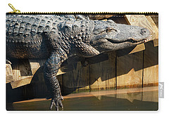 Sunbathing Gator Carry-all Pouch by Carolyn Marshall