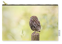 Sunken In Thoughts - Staring Little Owl Carry-all Pouch by Roeselien Raimond