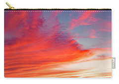 Carry-all Pouch featuring the photograph Sunset Over A Lake, Pocono Mountains, Pennsylvania by A Gurmankin