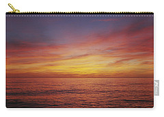 Sunset Over A Sea, Gulf Of Mexico Carry-all Pouch by Panoramic Images