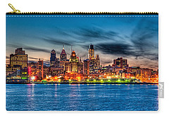 Sunset Over Philadelphia Carry-all Pouch by Louis Dallara