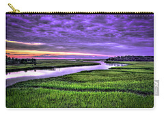 Sunset Over Turners Creek Savannah Tybee Island Ga Carry-all Pouch by Reid Callaway
