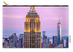Sunset Skyscrapers Carry-all Pouch by Az Jackson