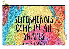 Superheroes- Inspirational Art By Linda Woods Carry-all Pouch by Linda Woods