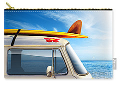 Surf Van Carry-all Pouch by Carlos Caetano
