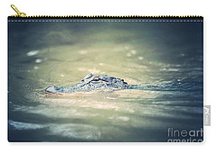 Swamp Gator Blues Carry-all Pouch by Carol Groenen