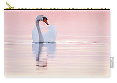 Swan In Pink Carry-all Pouch by Roeselien Raimond