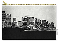 Sydney City Skyline With Opera House Carry-all Pouch by World Art Prints And Designs