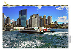 Sydney Skyline From Harbor By Kaye Menner Carry-all Pouch by Kaye Menner