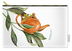 Tea Frog Carry-all Pouch by Amy Kirkpatrick