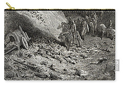 The Army Of The Second Crusade Find The Remains Of The Soldiers Of The First Crusade Carry-all Pouch by Gustave Dore