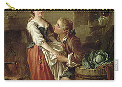The Beautiful Kitchen Maid Carry-all Pouch by Francois Boucher
