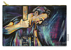 The Boss Bruce Springsteen Carry-all Pouch by Amy Belonio