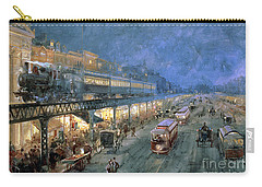 The Bowery At Night Carry-all Pouch by William Sonntag