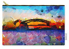 The Bridge I Will Cross Carry-all Pouch by Sir Josef - Social Critic - ART