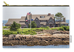 The Bush Compound Kennebunkport Maine Carry-all Pouch by Brian MacLean