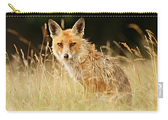 The Catcher In The Grass - Wild Red Fox Carry-all Pouch by Roeselien Raimond