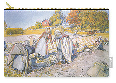 The Children Filled The Buckets And Baskets With Potatoes Carry-all Pouch by Carl Larsson