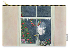 The Christmas Goose  Carry-all Pouch by Ditz