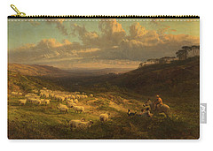 The Closing Day, Scene In Sussex Carry-all Pouch by George Vicat Cole