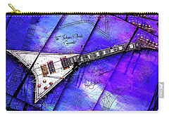The Concorde On Blue Carry-all Pouch by Gary Bodnar