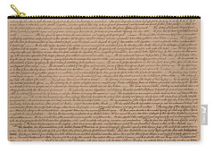 The Declaration Of Independence Carry-all Pouch by War Is Hell Store