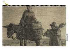 The Departure For Work Carry-all Pouch by Jean-Francois Millet