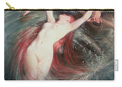 The Fisherman And The Siren Carry-all Pouch by Knut Ekvall