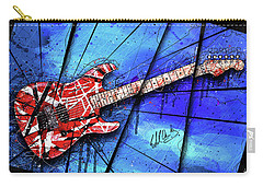 The Frankenstrat On Blue I Carry-all Pouch by Gary Bodnar